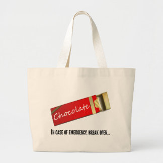 I think this qualifies as a chocolate emergency jumbo tote bag
