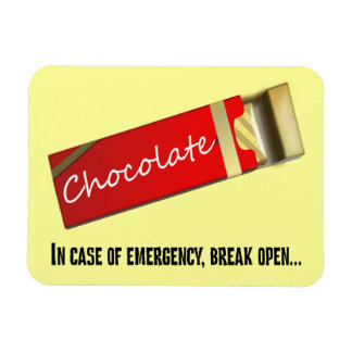 I think this qualifies as a chocolate emergency rectangular photo magnet