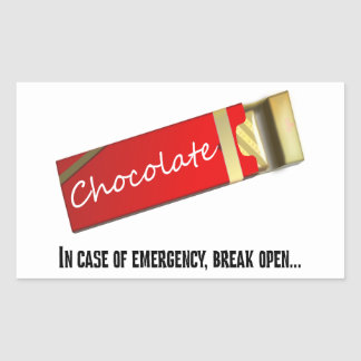 I think this qualifies as a chocolate emergency sticker