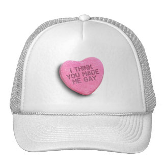 I THINK YOU MADE ME GAY CANDY TRUCKER HAT