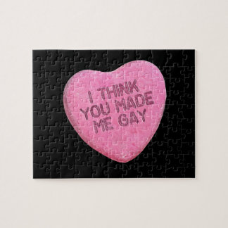 I THINK YOU MADE ME GAY CANDY - png Jigsaw Puzzle