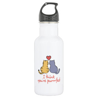 I Think You 're Purrfect 18oz Water Bottle
