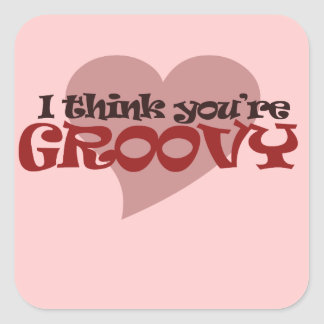 I think You're Groovy Valentine Stickers