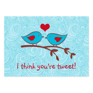 I think you're tweet valentine cards large business cards (Pack of 100)