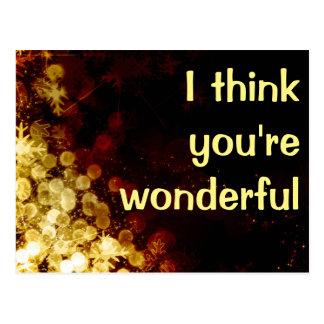 I think you're wonderful postcard