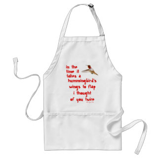 I Thought Of You Twice Adult Apron