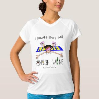 I Thought They Said Finish Wine - Champion SS T-Shirt