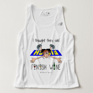 I Thought They Said Finish Wine - New Balance Tank Top