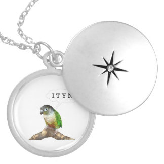 I Thought You'd Never Ask Conure Round Locket Necklace