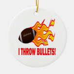 I Throw Bullets Double-Sided Ceramic Round Christmas Ornament