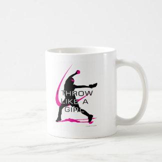 I Throw like a Girl Pink Softball Coffee Mug