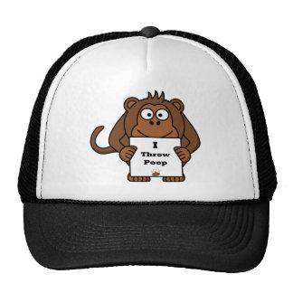 I Throw Poop Monkey Trucker Hat