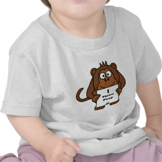 I Throw Poop Monkey Shirt