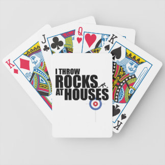 I throw rocks at houses curling bicycle card deck