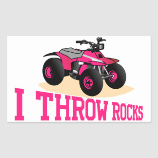 I Throw Rocks Rectangular Sticker