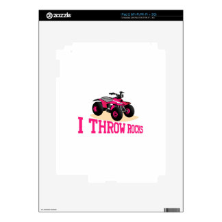 I Throw Rocks Decals For The iPad 2