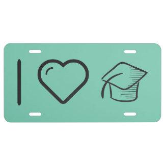 I tiempos de la graduación del corazón placa de matrícula
