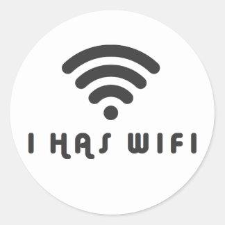 I TIENE INTERNET DE WIFI PEGATINA REDONDA