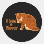 I tiene un sabor, CAT de LOL Etiqueta Redonda