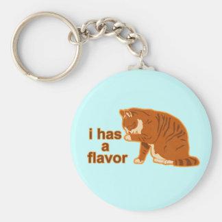 I tiene un sabor, CAT de LOL Llavero Redondo Tipo Pin