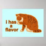 I tiene un sabor, poster del gato de Lol