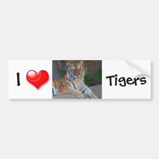 I tigres del corazón pegatina para auto
