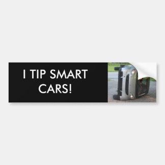 I TIP SMART CARS! BUMPER STICKER