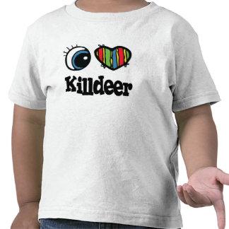 I tipo de tero norteamericano del corazón (amor) camisetas