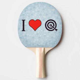 I tiroteo de la flecha del corazón pala de tenis de mesa