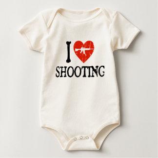 I tiroteo del corazón body para bebé