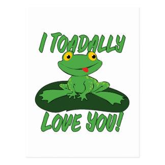 I Toadally Love You Postcard