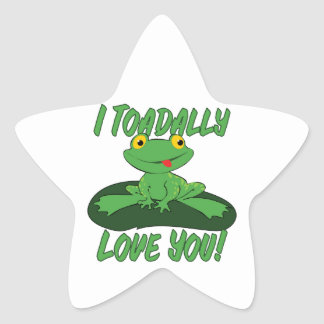 I Toadally Love You Stickers