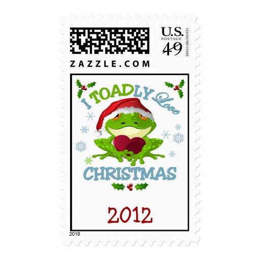 I Toadly Love Christmas Postage Stamp