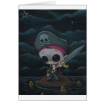 pirate, sugar, fueled, sugarfueled, michael, banks, skull, swordandthestone, creepy, cute, lowbrow, Card with custom graphic design