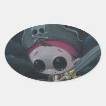 pirate, sugar, fueled, sugarfueled, michael, banks, skull, swordandthestone, creepy, cute, lowbrow, Sticker with custom graphic design