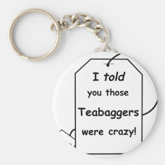 I told you those teabaggers were crazy keychain