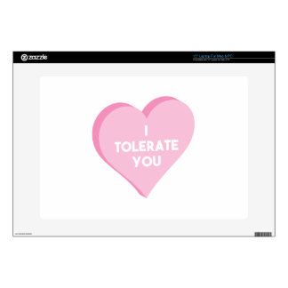I Tolerate You Decal For Laptop
