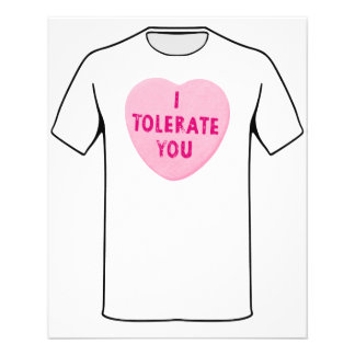 I Tolerate You Valentine's Day Heart Candy Custom Flyer