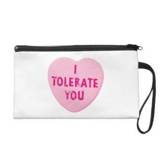 I Tolerate You Valentine's Day Heart Candy Wristlet