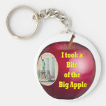 I Took a Bite of the Big Apple by Rossouw Keychain