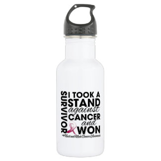 I Took a Stand Against Head and Neck Cancer 18oz Water Bottle