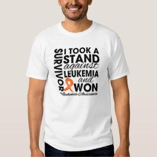 I Took a Stand Against Leukemia and Won Tee Shirt