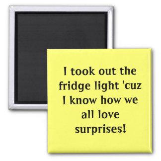 I took out the fridge light cuz I know how we Fridge Magnet