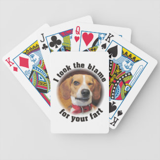 I took the Blamefor Your Fart Beagle Playing Cards