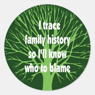 I Trace Family History Stickers