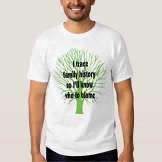 I Trace Family History T Shirt