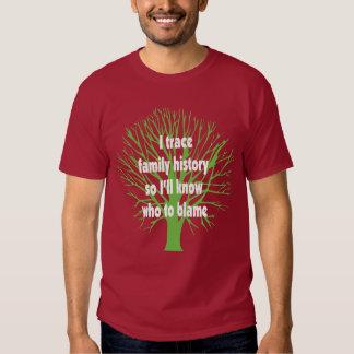 I Trace Family History Tee Shirt