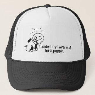 I Traded My Boyfriend For a Puppy Retro Space DOg Trucker Hat