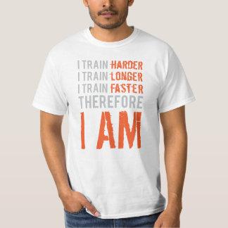 I Train Harder, Longer, Faster Orange Shirt