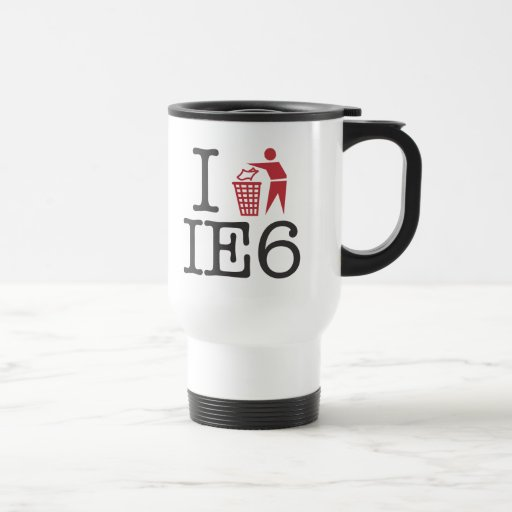 I trash IE6 15 Oz Stainless Steel Travel Mug